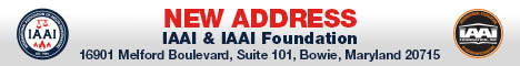 We Are Moving! IAAI & IAAI Foundation, 16901 Melford Boulevard, Suite 101, Bowie, MD 20715