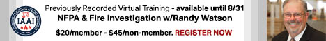 Previously Recorded Virtual Training - NFPA & Fire Investigation with Randy Watson